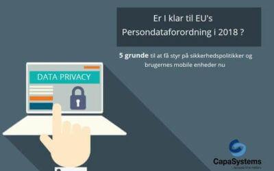 Mindre en 1 år til Persondataforordningen – passer I godt på medarbejdernes data?