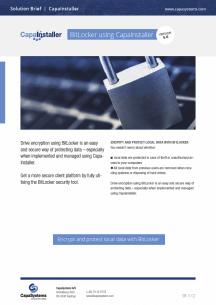 BitLocker med CapaInstaller