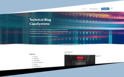 Velkommen til CapaSystems Technical Blog